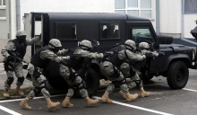 Special force soldiers in anti terrorism action